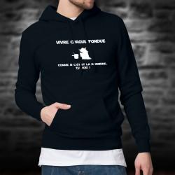 Cotton Hoodie T-Shirt - Vivre chaque fondue comme... ★ Yoda ★
