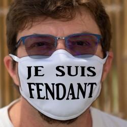 Je suis FENDANT ★ Chasselas valaisan ★ Waschbare Stoffmaske