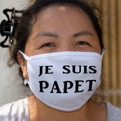 Je suis PAPET ★ Masque humoristique, tissu lavable en l'honneur du plat cantonal vaudois à base de saucisse aux choux