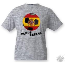 Kids Soccer T-shirt - Vamos España, Ash heater