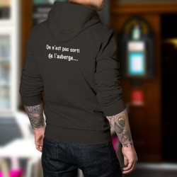 Cotton Hoodie T-Shirt - On est pas sorti de l'auberge ★