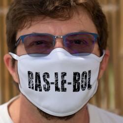 Ras-le-bol ★ Masque humoristique en tissu lavable, sentiment général face à cette pandémie et aux mesures gouvernementales