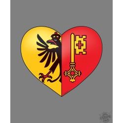 Sticker - Genfer Herz - Autodeko