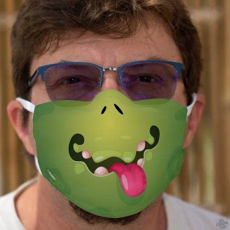 Green Monster ★ Funny mask in washable double-layer fabric