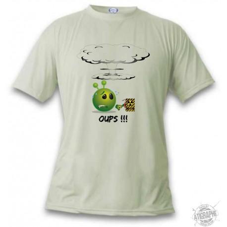 Alien smiley T-Shirt - Oups !!!, November White