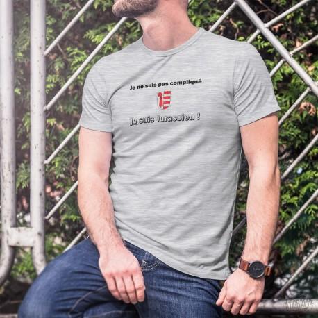 Je ne suis pas compliqué, je suis Jurassien ★ T-Shirt humoristique homme - écusson Jurassien