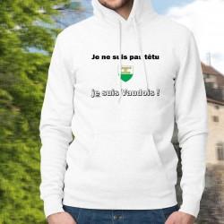 Sweat bianco a cappuccio - Je ne suis pas têtu ★ je suis Vaudois ★