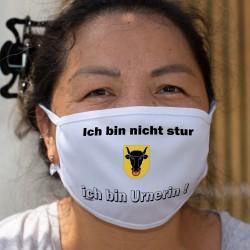 Ich bin nicht stur ★ ich bin Urnerin ! ★ Schutzmaske aus Stoff, Kanton Uri Wappen