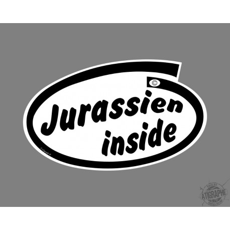 Funny Sticker - Jurassien inside - per automobile
