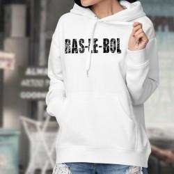 Ras-le-bol ✪ Pull-sweatshirt humoristique blanc à capuche dame
