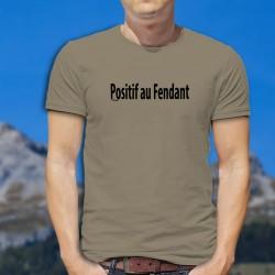 Positif au Fendant ★ T-Shirt homme, si il faut être positif à quelque chose, autant choisir le Fendant plutôt que la COVID