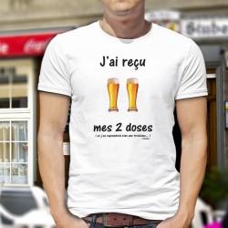 Men's T-Shirt - J'ai reçu mes deux doses ★ de bières ★