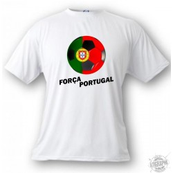 Kids Soccer T-shirt - Força Portugal, White