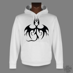 Men's or Women's Hooded Funny Sweat - Bat Dragon