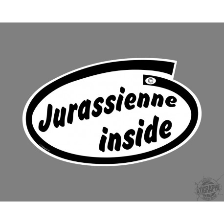 Sticker humoristique - Jurassienne inside - pour voiture