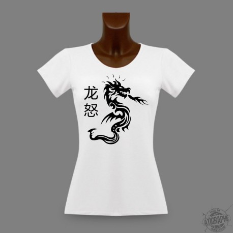 T-Shirt slim moulant pour femme - Dragon Fury