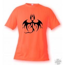 Men's or Women's T-Shirt - Bat Dragon, Safety Orange