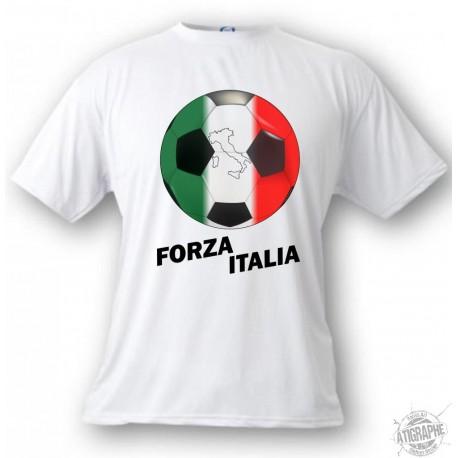 Kids Soccer T-shirt - Forza Italia, White