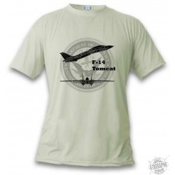 Women's or Men's Fighter Aircraft T-shirt - F-14 Tomcat, November White