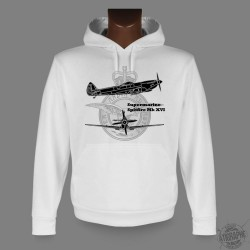 Hooded Fighter Aircraft Sweatshirt - Spitfire MkXVI