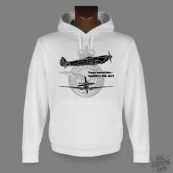 Hooded Fighter Aircraft Sweatshirt - Spitfire MkXVI