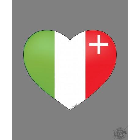 Sticker - Coeur Neuchâtelois - pour voiture