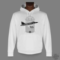 Sweat-shirt blanc à capuche - JAS 39 Gripen