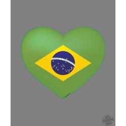 Sticker - Brasilianisches Herz - Autodeko