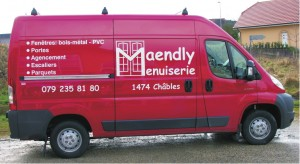 Marquage véhicule, Maendly Menuiserie