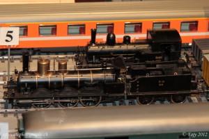 Deux locomotives à vapeur à l'échelle O (1:45)