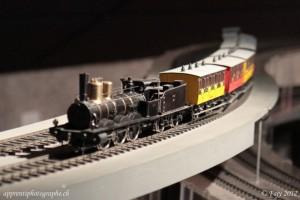 La C3/3, première locomotive à vapeur arrivée à Vallorbe en 1870, sur le circuit O