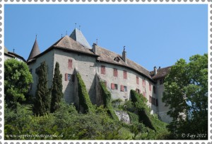 The castle of Blonay stamped