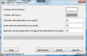 "The script dialog box ""postage stamp"""