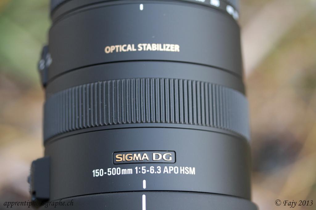 Le téléobjectif 150 - 500mm F/5.0-6.3 DG APO OS HSM de la marque Sigma