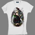 Tee-shirt Ladies by Whale - Absinthe with Faust en blanc ou en rose