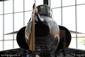 La caméra de nez de l'appareil de reconnaissance Mirage III RS