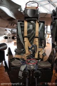 Le siège éjectable du DH-100 Vampire