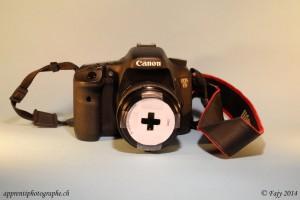 Mon Canon EOS 7D et son objectif Macro 60mm équipé du filtre bokeh en forme de croix suisse