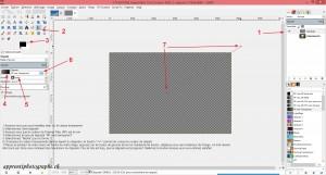 Procédure pour l'application du dégradé radial sur le calque de vignettage