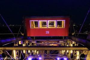 Un des wagons utilisé comme salle de restaurant