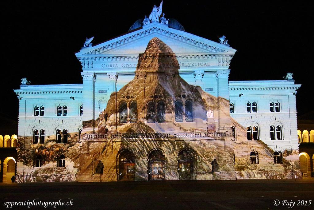 Le joyau des montagnes - le Palais fédéral se métamorphose en Cervin
