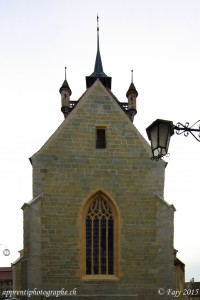 La façade protégeant le choeur de la Collégiale Saint-Laurent
