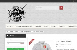 Le logo de ma marque aTigraphe® a été réalisé en fond transparent afin de l'intégrer dans la page web de mon magasin en ligne
