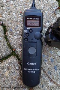 La télécommande TC-80N3 de Canon avec fonction minuteur