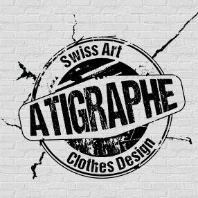Le logo de aTigraphe®, La petite marque suisse de T-shirts et accessoires, depuis 2012.